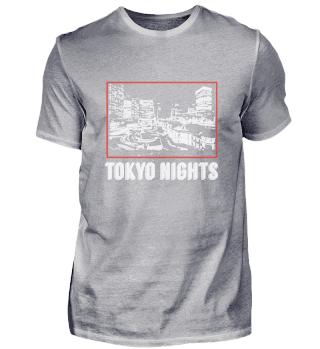 Tokyo Night Japan Skyline Japanese