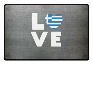 I love LOVE Giechenland flag flag heart
