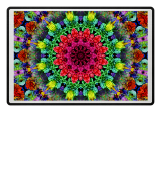 Colorfully Flowers Mandala