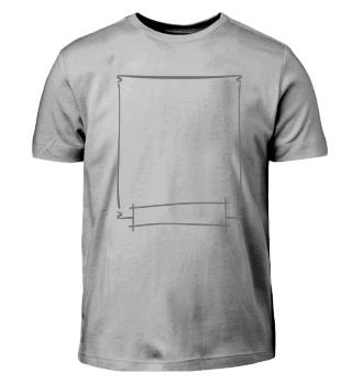 Kritzel-Shirt + Rahmen für Kinderkunst