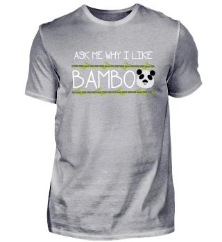 Tierpanda lieben Bambusgeschenk