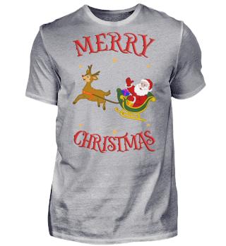 Merry Christmas Santa Claus & Rentier