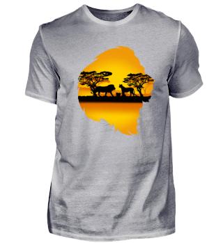 Löwe Safari Tour Afrika Shirt Geschenk