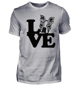Boston Terrier Mandala Love Lieblingshund