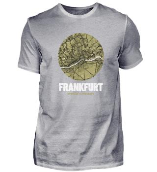 Frankfurt – City Map Stadtplan (oliv)