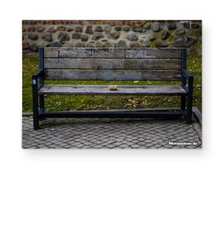 Mettbrötchen Poster - Parkbank