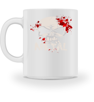 ★ Heavy Metal Skull With Drops Of Blood