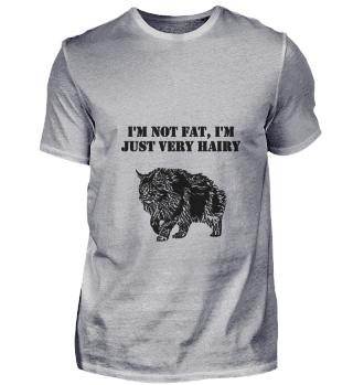 Dicke Katze Ich Bin Nicht Fett Spruch en