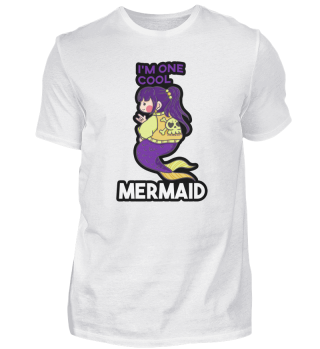 Mermaid rock metal cool girl