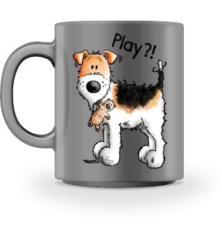 Foxterrier Mit Spielzeug Teddy I Hund