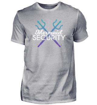 Mermaid security Lustiges T-Shirt
