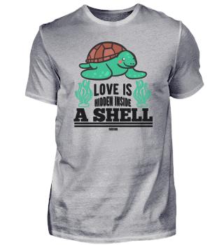 sweet turtle in the sea