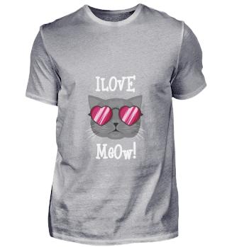 D007-0028B I love meow / Ich liebe Kätzc