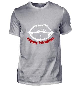 Valentins Geschenk Kuss Lippen Rot