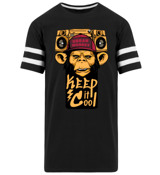 Herren Kurzarm Striped T-Shirt Urban Monkey Ramirez