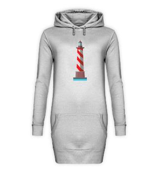 Leuchtturm Norddeutsch · Hoodie Kleid