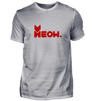 Miau - Meow Katzen Wordart red