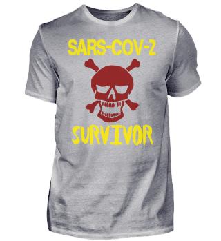 Coronavirus Survivor Shirt Skull Edition