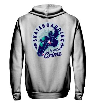 Herren Zip Hoodie Sweatshirt Skateboarding Crime Ramirez