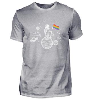 LGBT Fahne Astronaut