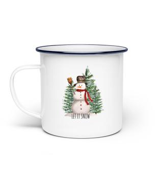 Schneemann - Weihnachten- winterlich
