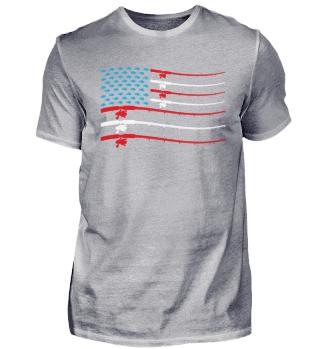 Angeln Angler Amerika Stars and Stripes