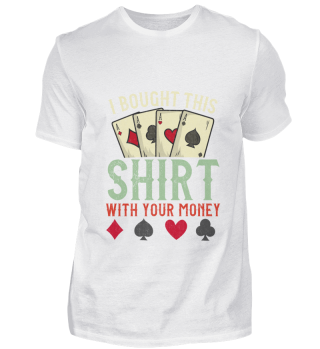 Poker Shirt Money Cards Lucky Ass