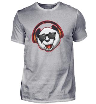 Hipster Panda Music DJ Kopfhörer Brille