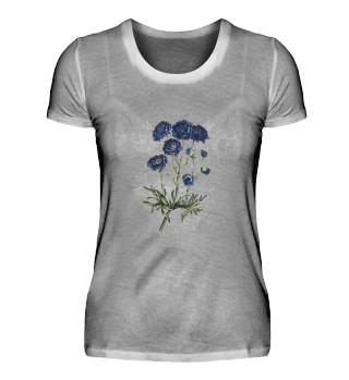 Blaue Blume - Damen
