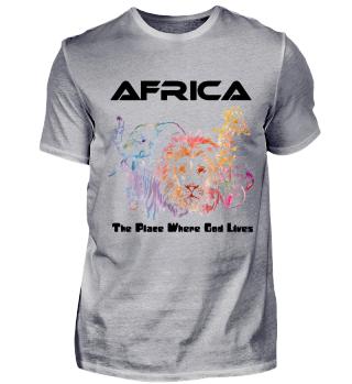 Afrika Tshirt Herren / Africa with God