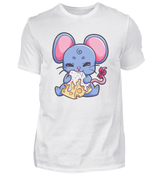 Mouse girl nibbling cheese Piece Gift