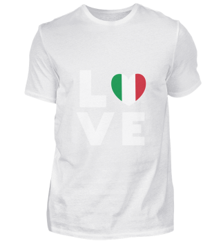 I love LOVE Italy Flag Flag Heart