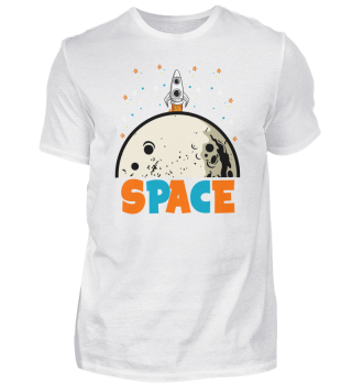 Space Moon Spaceship Planet Space