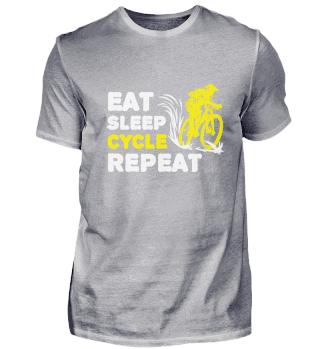 Eat Sleep Cycle Repeat Cycling Road