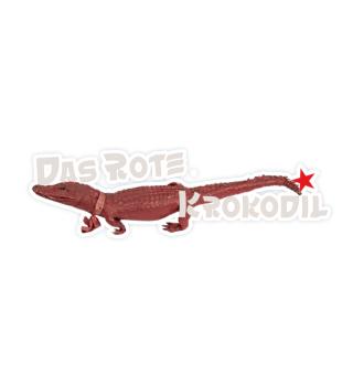 Aufkleber Das Rote Krokodil