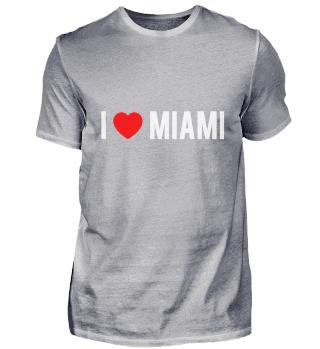 I Love MIAMI Pride Country T Shirt