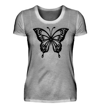 Schmetterling zum Ausmalen I - schwarz