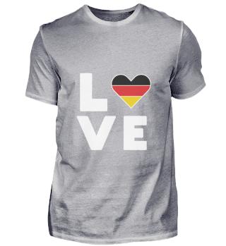 Ich liebe LOVE Deutschland Flagge Fahne