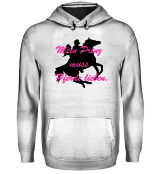 Damen Hoodie-Aus Liebe zum Pferd