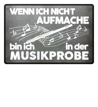Fußmatte - Querflöte Musikprobe