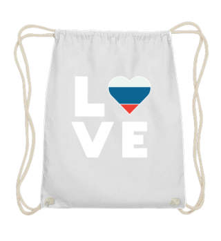 I love LOVE Russia flag flag heart