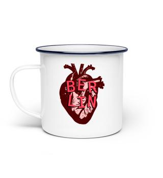 Berlin Love Heart - Enamel Mug