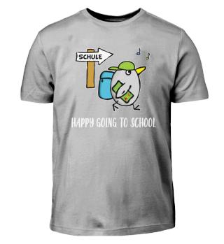 Vogel Schulkind - HAPPY Going To School