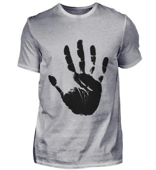 Schwarze Handfläche