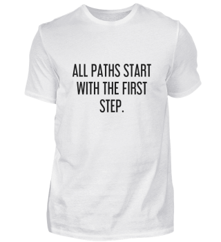 All paths start with the first step.