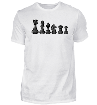 Black chess pieces - Chess Sport Gift