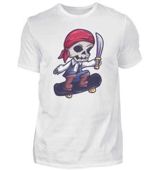 Skateboard Pirate Skeleton Gift