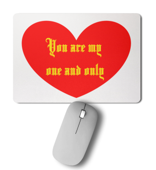 Mousepad one and only