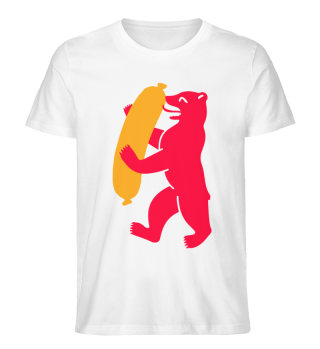 Berlin Bear With Currywurst - Mens Shirt