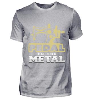 Pedal zum Metall Geschenkidee Nähmaschie